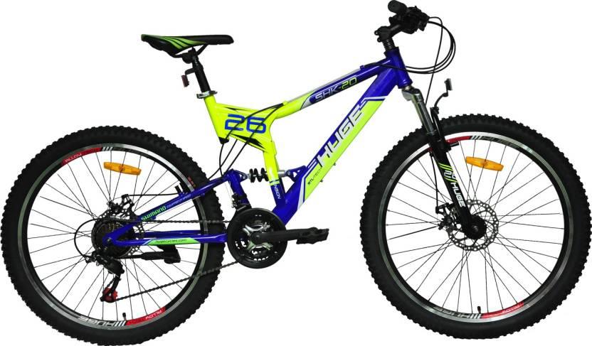 c20d4b2b16e HUGE SHK(Lumi-Blue) 26 T Mountain/Hardtail Cycle (21 Gear, Multicolor)