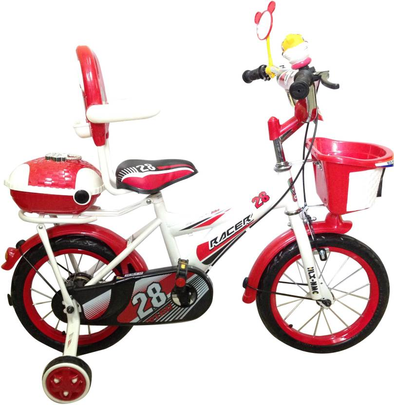 d0eb062d47c3 HLX-NMC KIDS BICYCLE 14 BOWTIE RED/WHITE 14 T Recreation Cycle (Single  Speed, Red, White)