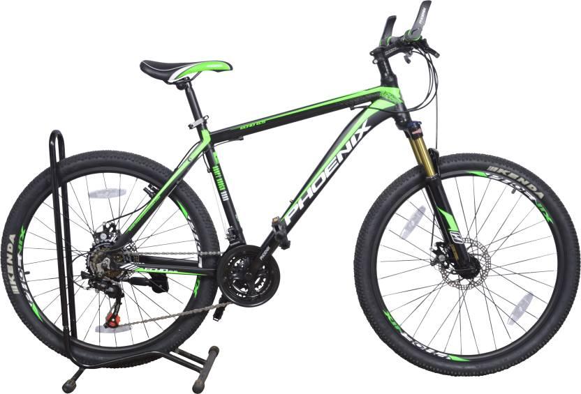 Phoenix Echo 6.5 26  21 Speed 26 T Mountain/Hardtail Cycle 21 Gear, Green
