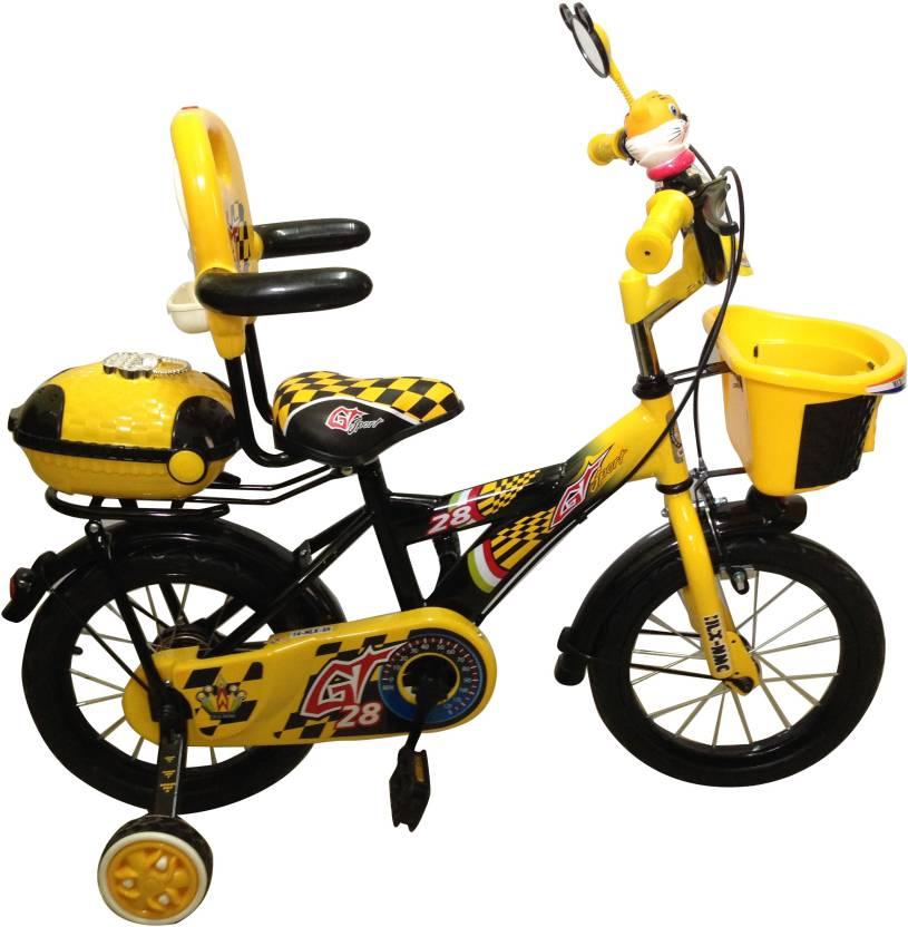 64f946136e8a HLX-NMC KIDS BICYCLE 14 BOWTIE YELLOW/BLACK 14 T Recreation Cycle (Single  Speed, Yellow, Black)