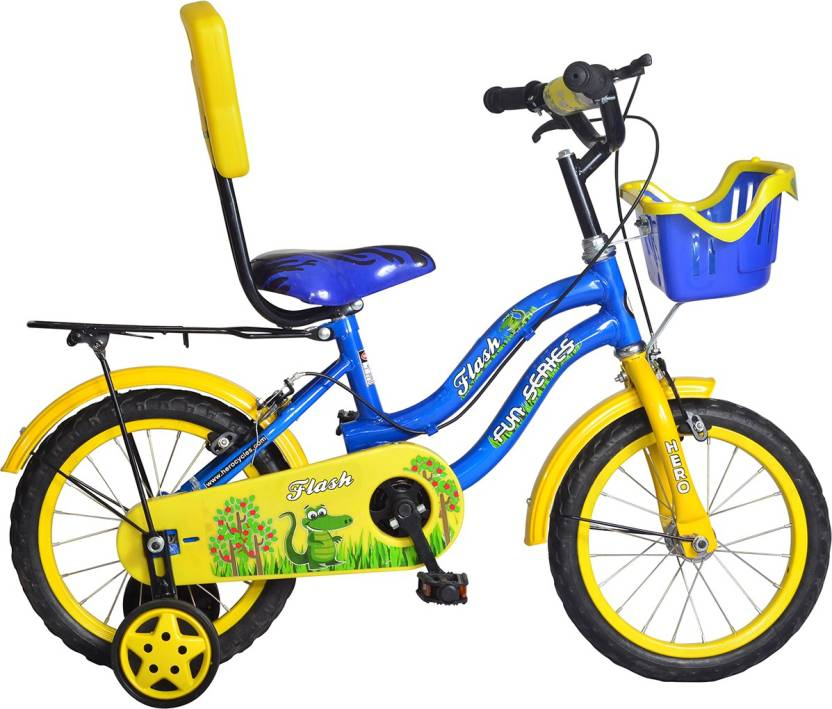 Hero Flash 12T S365BBDFL01 Road Cycle  (Yellow, Blue)