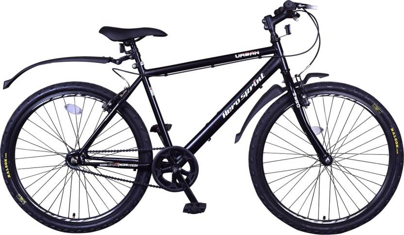 Hero Urban 26 T Single Speed Mountain Cycle  (Black)