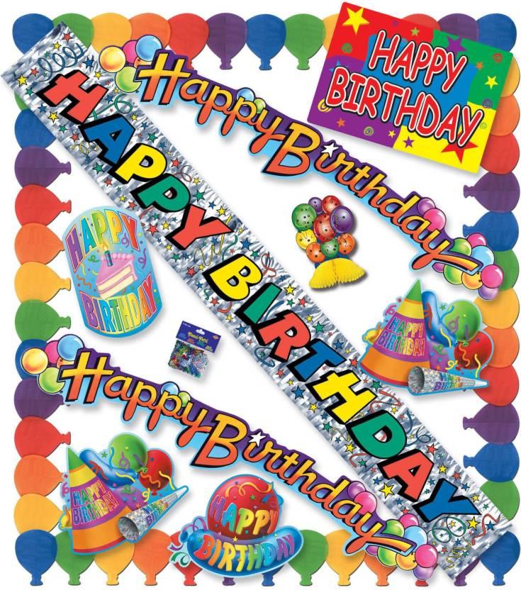 Beistle Happy Birthday Party Kit Multicolor Decorative