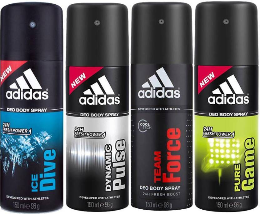 Adidas Ice Dive Dynamic Pulse Team Force Pure Game Body Spray  -  For Men