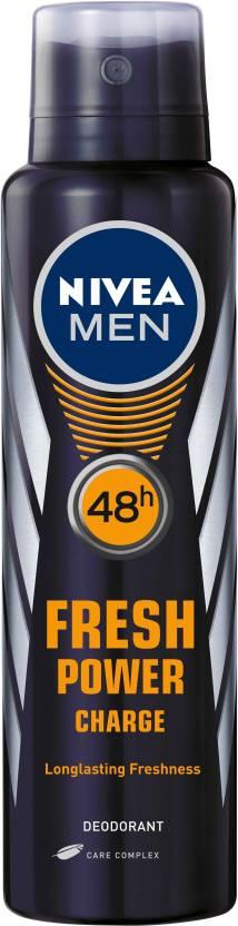 Nivea Fresh Power Charge Body Spray - For Men  (150 ml) By Flipkart @ Rs.190