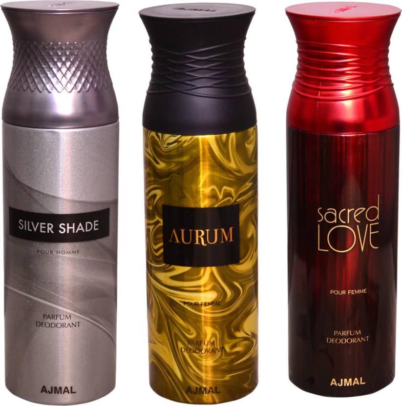 Ajmal 1 Silver Shadow1 Aurum1 Sacred Love Deodorant Spray For