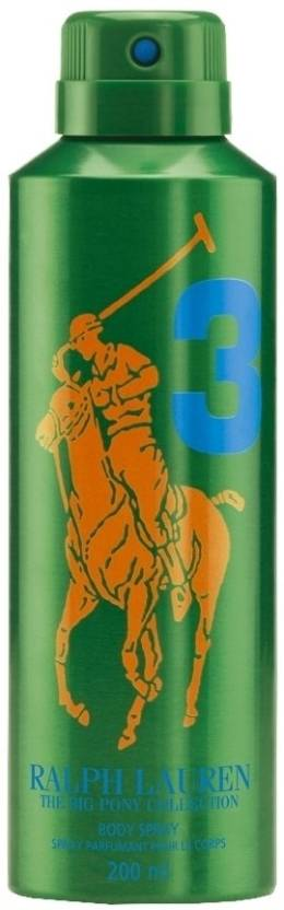 Ralph Lauren Big Pony 3 Deodorant Spray  -  For Men