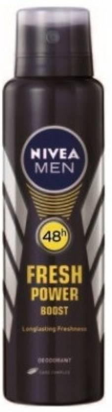 Compare Nivea Fresh Power Boost Deodorant Spray - For Men at Compare Hatke