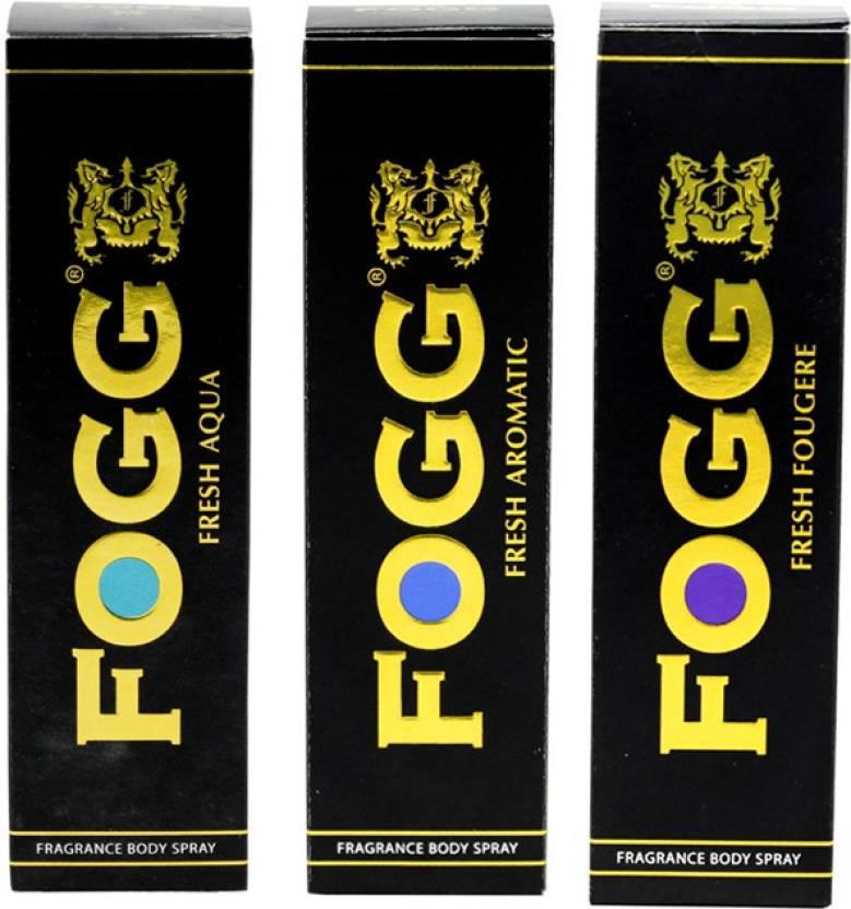 Fogg Fougere, Aromatic and Aqua Black Series Deodorant Spray - For Men