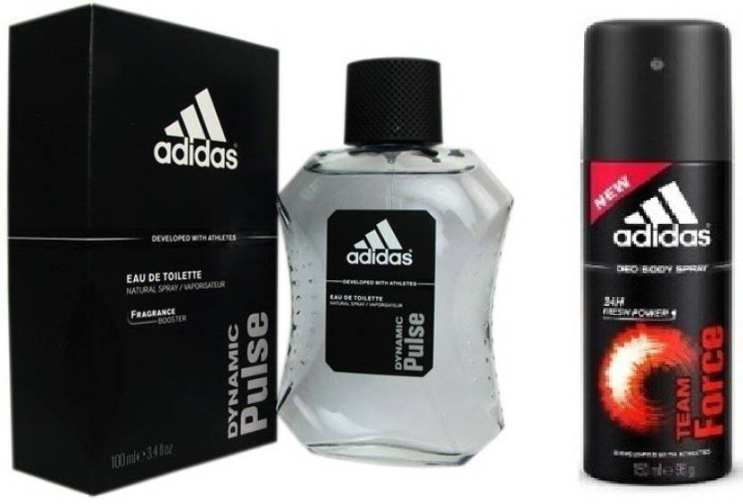 Adidas The Dynamic Pulse Edt Team Force Deo Combo Body Spray For