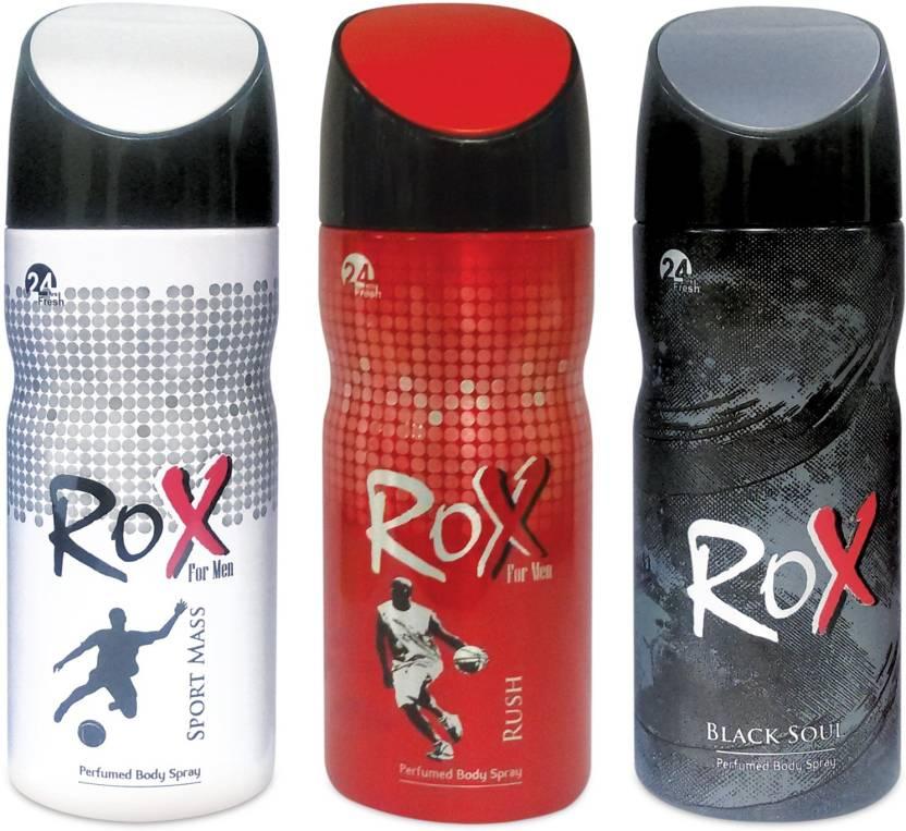 Rox Sportmass, Rush, Blacksoul Body Spray  -  For Men