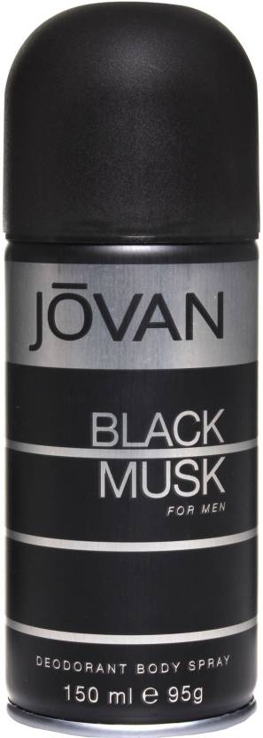 Jovan Black Musk Deodorant Spray  -  For Men