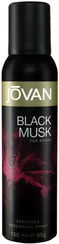 Jovan Black Musk Deodorant Spray  -  For Women