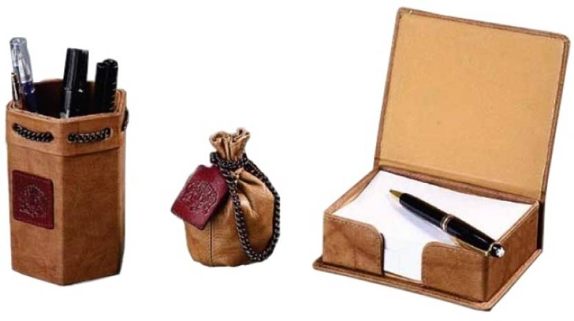 Leather Talks Leather Desk Organiser