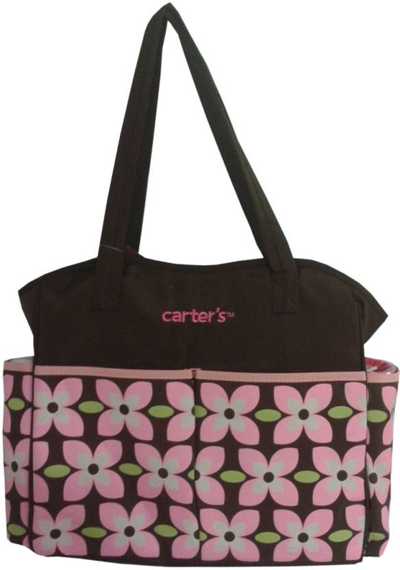 carter 39 s flower print diaper bag diaper bag buy baby care products in india. Black Bedroom Furniture Sets. Home Design Ideas