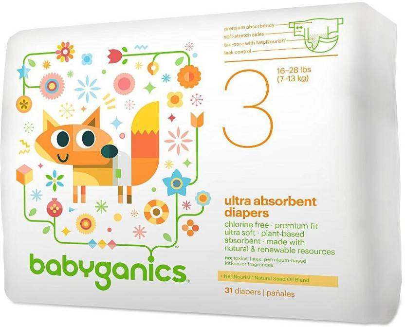 Babyganics Ultra Absorbent Size 3 - M