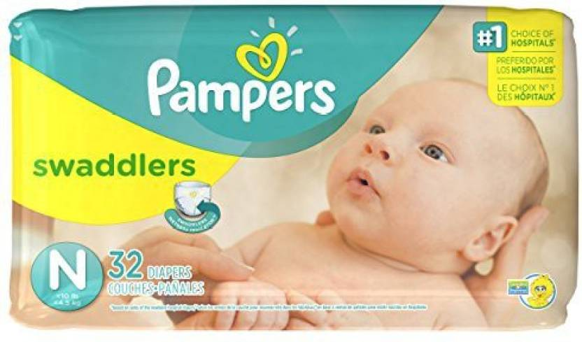 Pampers Swaddlers Diapers - Jumbo Pack - Newborn - Free Size