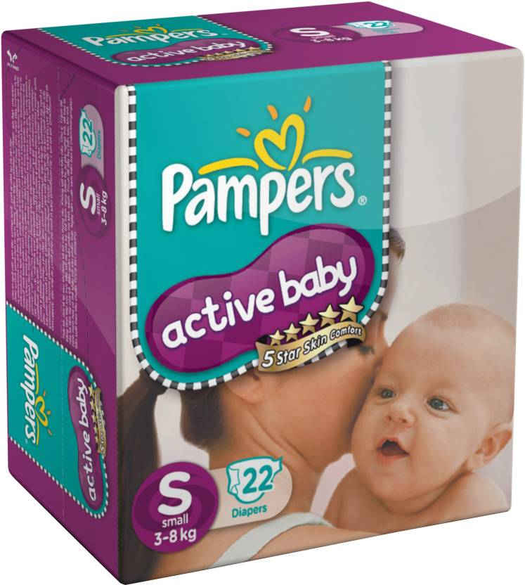 Pampers Active Baby Diapers Taped Small Size