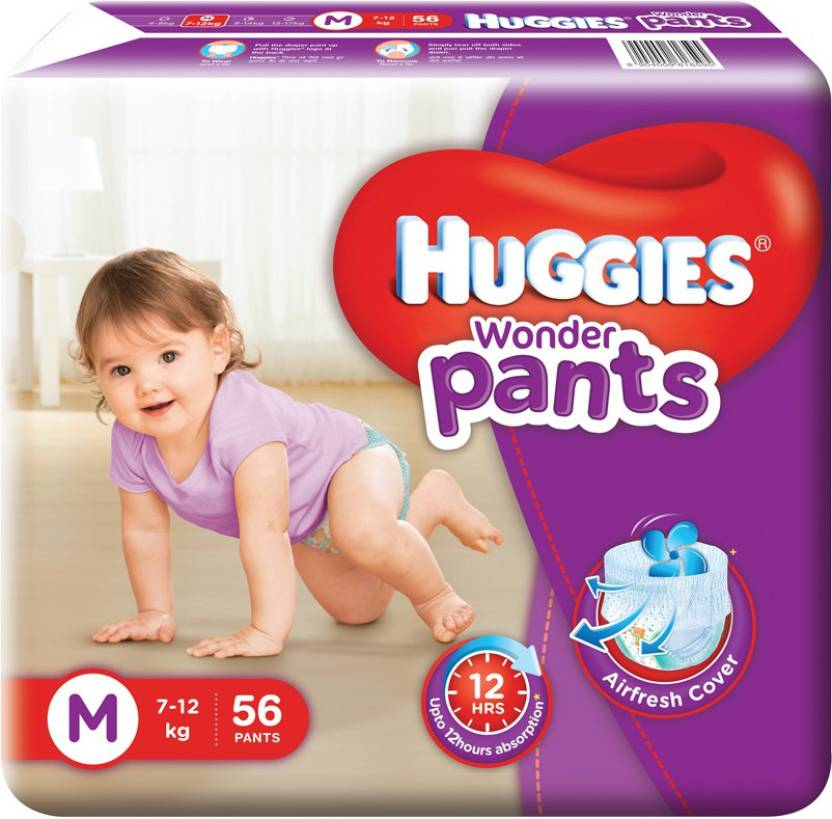 Huggies Wonder Pants Diapers - M  (56 Pieces)