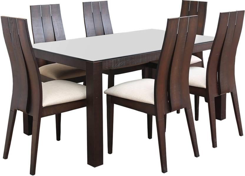 Hometown Carlton Glass 6 Seater Dining Set Price In India Buy