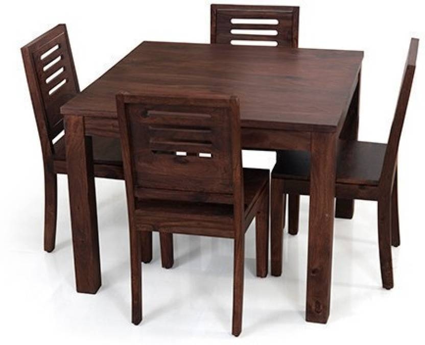 Home Edge Solid Wood 4 Seater Dining Set