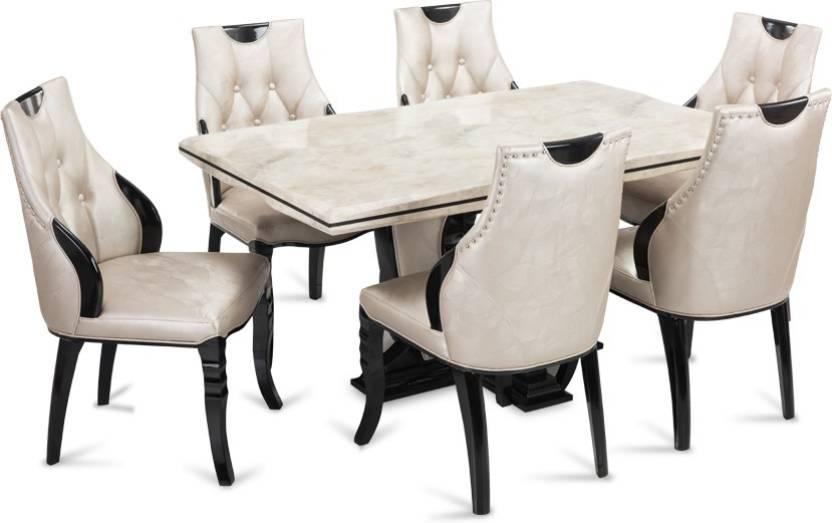 huge discount 65b1c 2ca80 Durian FISHER Stone 6 Seater Dining Set Price in India - Buy ...