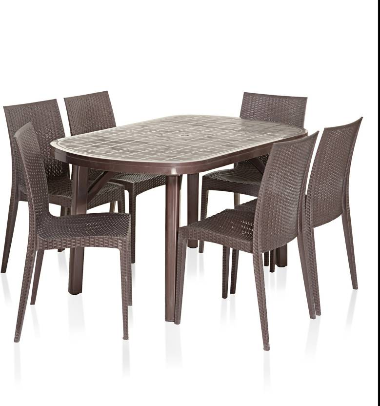 Varmora Dinning Table Set 1 6 Dezire Plastic Seater Dining