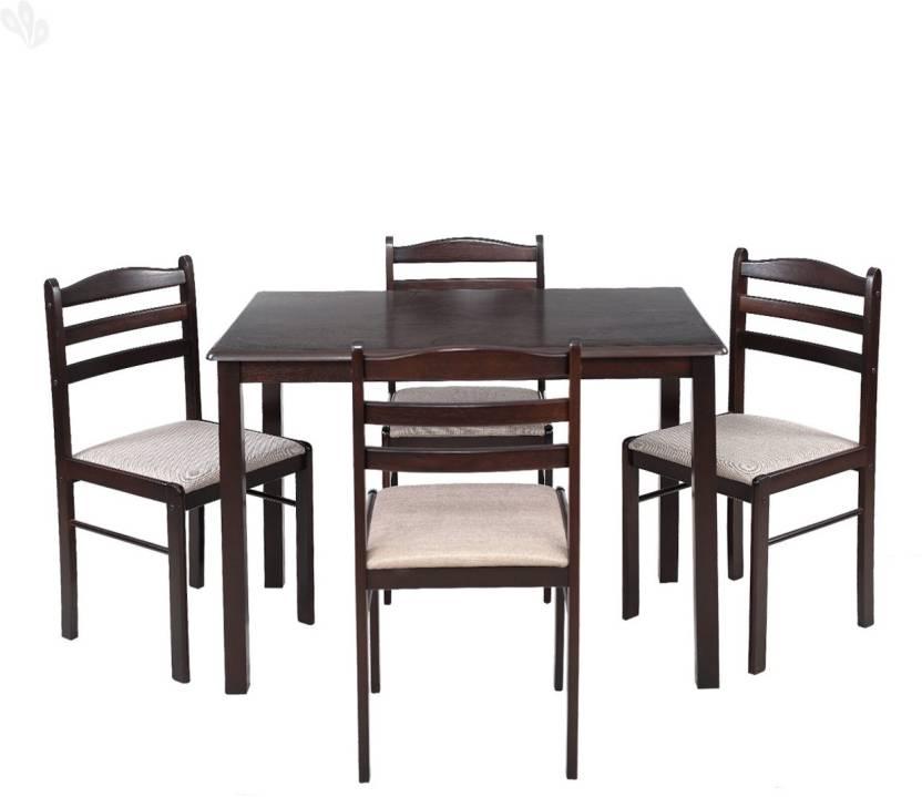 Upto 60% Off on Royal Oak Furniture By Flipkart | Royal Oak Hunter Solid Wood Dining Set  (Finish Color - Honey Brown) @ Rs.9,499