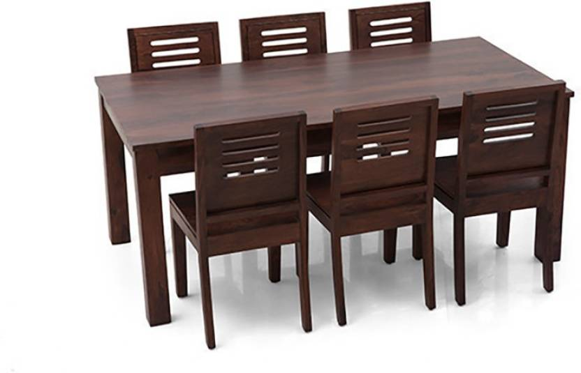 57cd8e8757 Urban Ladder Arabia XL - Capra Solid Wood 6 Seater Dining Set (Finish Color  - Mahogany)