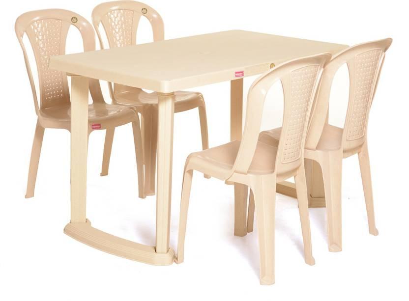 Varmora Dinning Table Set 1 4 Relish Plastic Seater Dining