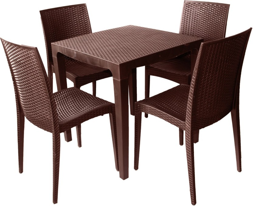 Delicieux Cello Plastic 4 Seater Dining Set