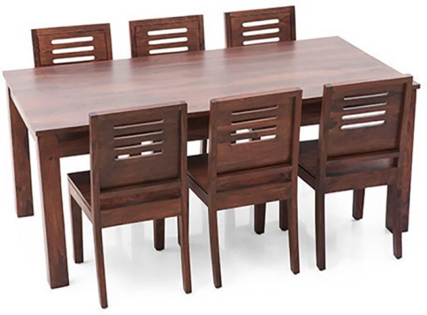4d2706d32b4c4 Urban Ladder Arabia XL - Capra Solid Wood 6 Seater Dining Set (Finish Color  - Teak)