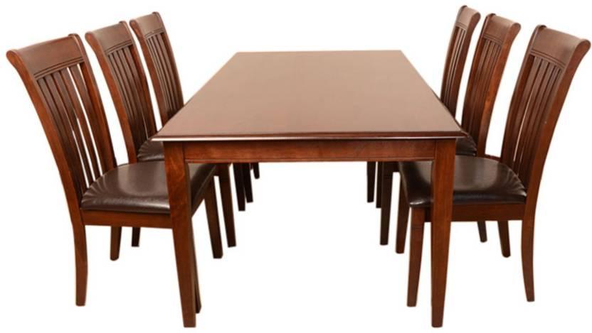 0fae5ed9f HomeTown Linda Solid Wood 6 Seater Dining Set Price in India - Buy ...