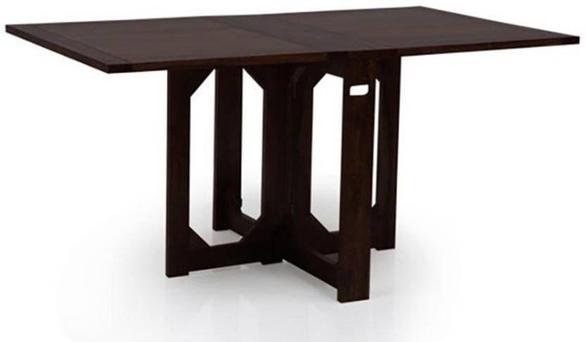 IKEA Solid Wood 4 Seater Dining Table Finish Color