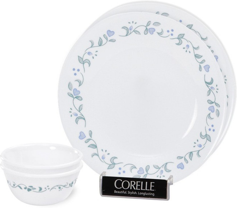 CORELLE Bachelor Pack of 4 Dinner Set  sc 1 st  Flipkart & CORELLE Bachelor Pack of 4 Dinner Set Price in India - Buy CORELLE ...