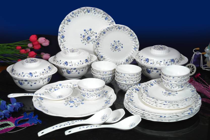 Machi Mircle Blue Pack Of 35 Dinner Set Price In India