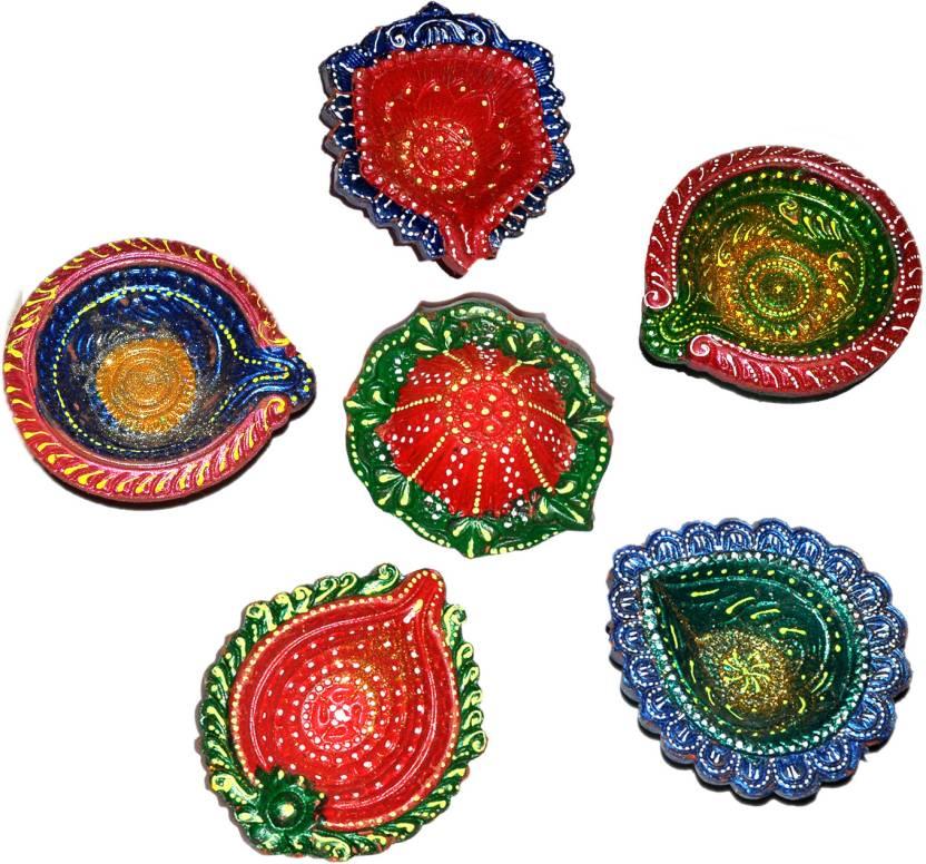 Dakshcraft Decorative Diwali Home Decor Item Terracotta Table Diya
