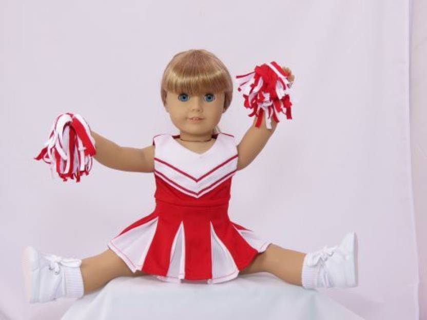 e1aa294a99f American Fashion World Doll Clothes -Red and White Doll Cheerleader ...