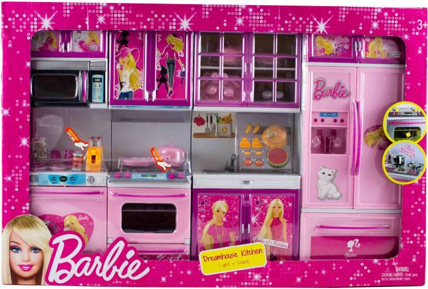 Planet Toys Barbie Dreamhouse Kitchen Large Size Barbie