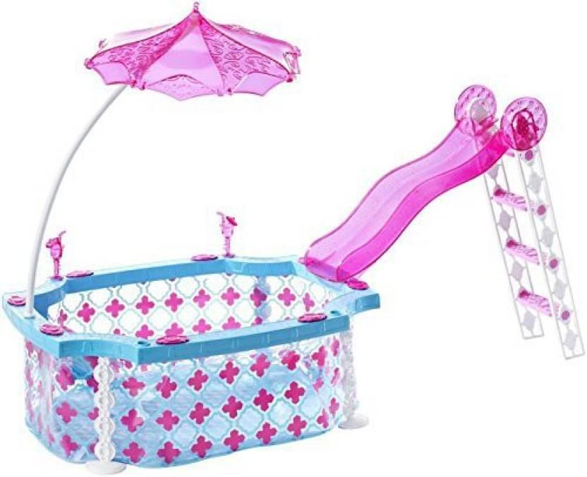 Get best deal for Barbie Glam Pool(Multicolor) at Compare Hatke