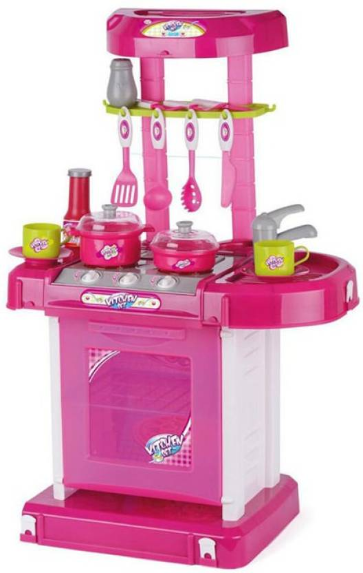 Turban Toys Battery Operated Kitchen Super Set With Light And Sound Carry Case