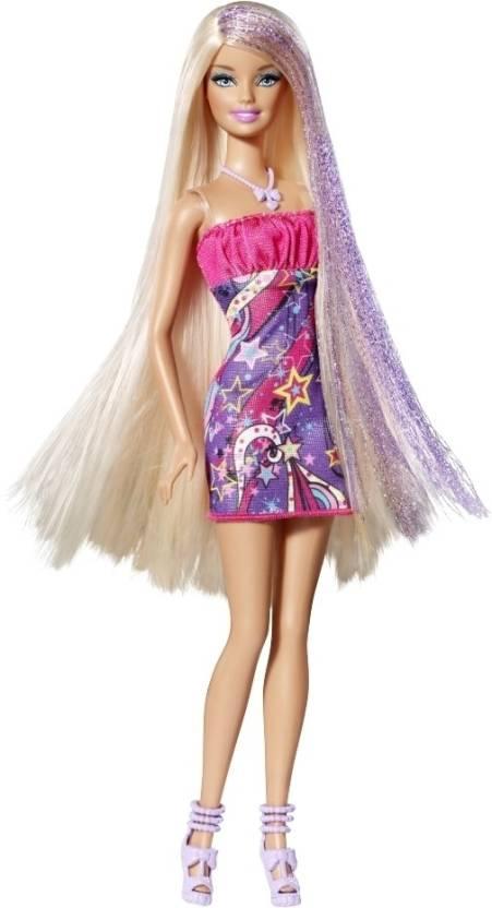 Barbie Long Hair Doll - Blonde Hair - Long Hair Doll - Blonde Hair ...