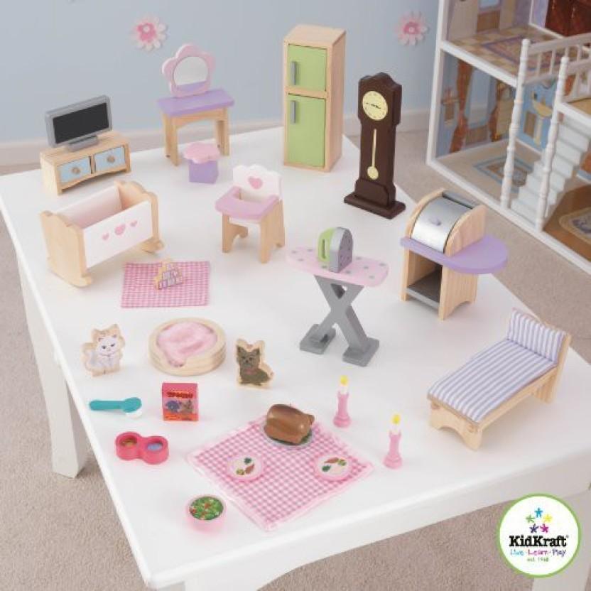 Exceptionnel KidKraft 28 Pc Dollhouse Furniture Set