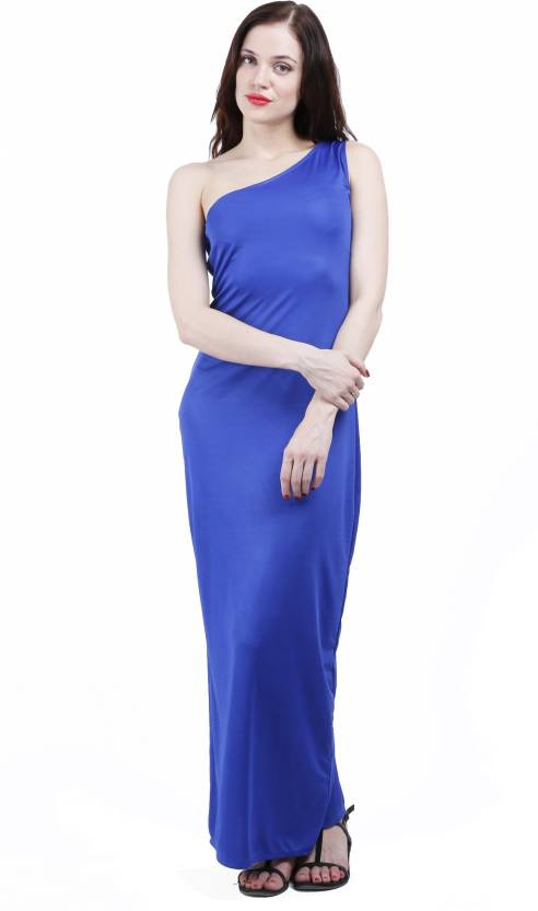 22f5fb1ee4 BD Fashion Women's Maxi Blue Dress - Buy Blue BD Fashion Women's Maxi Blue Dress  Online at Best Prices in India | Flipkart.com
