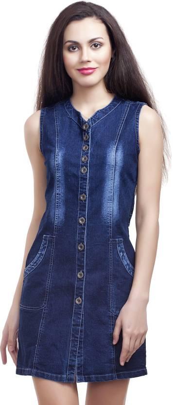 Clo Clu Women's A-line Dark Blue Dress