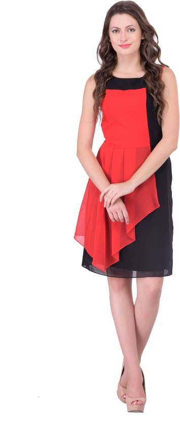 Athena Women's Gathered Red Dress