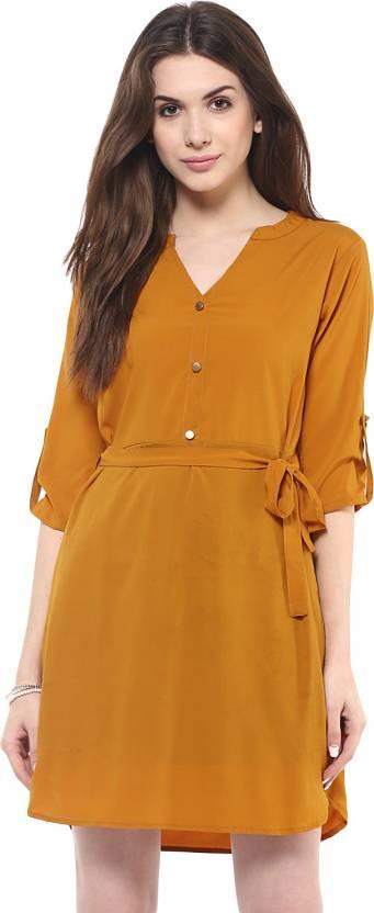 Zimaleto Women's Shift Brown Dress