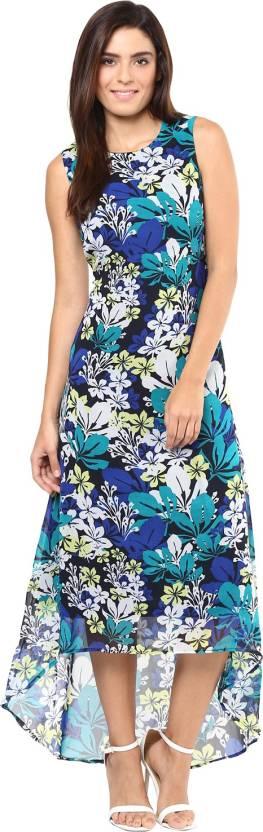 Harpa Women's High Low Multicolor Dress