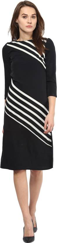 Harpa Women's A-line Black Dress