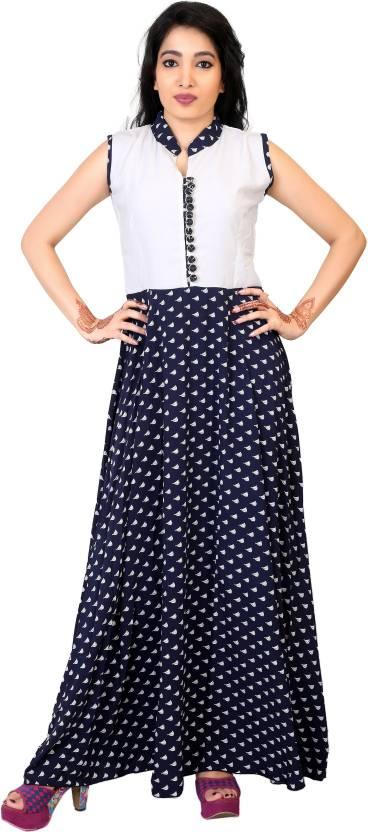 2362a2fc783c6 Carrel Women's Maxi Dark Blue Dress - Buy Navy Blue Carrel Women's ...